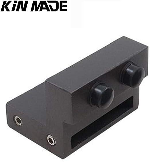 KINMADE Matte Black Track Connector for Sliding Barn Door Track//Rail 1 Pack