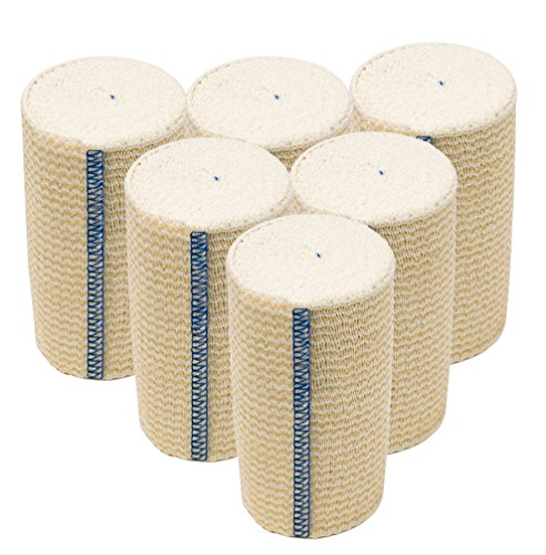 """GT Cotton Elastic Bandage with Hook and Loop Closure, 4"""" Wid"""