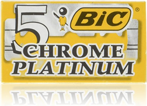 (100 Bic Chrome Platinum Top Quality Stainless Steel Double Edge Blade 5-count (20 Packs of 5))