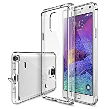 Galaxy Note 4 Case - Ringke FUSION ***All New Dust Free Cap & Drop Protection*** [FREE Screen Protector][CRYSTAL VIEW] Premium Crystal Clear Back Shock Absorption Bumper Hard Case with Free HD Screen Film for Samsung Galaxy Note 4 - Eco/DIY Package