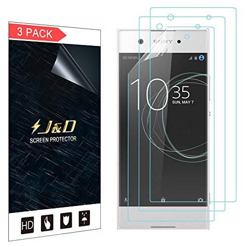 J&D Compatible for 3-Pack Xperia XA1 Screen Protector, [Not Full Coverage] Premium HD Clear Film Shield Screen Protector for Sony Xperia XA1 Crystal Clear Screen Protector (Xperia Screen J Sony Protector)