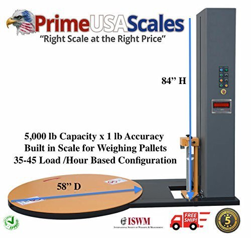 Wrapping Machine Pallet Wrapper Automatic Scale 5,000 lb ()