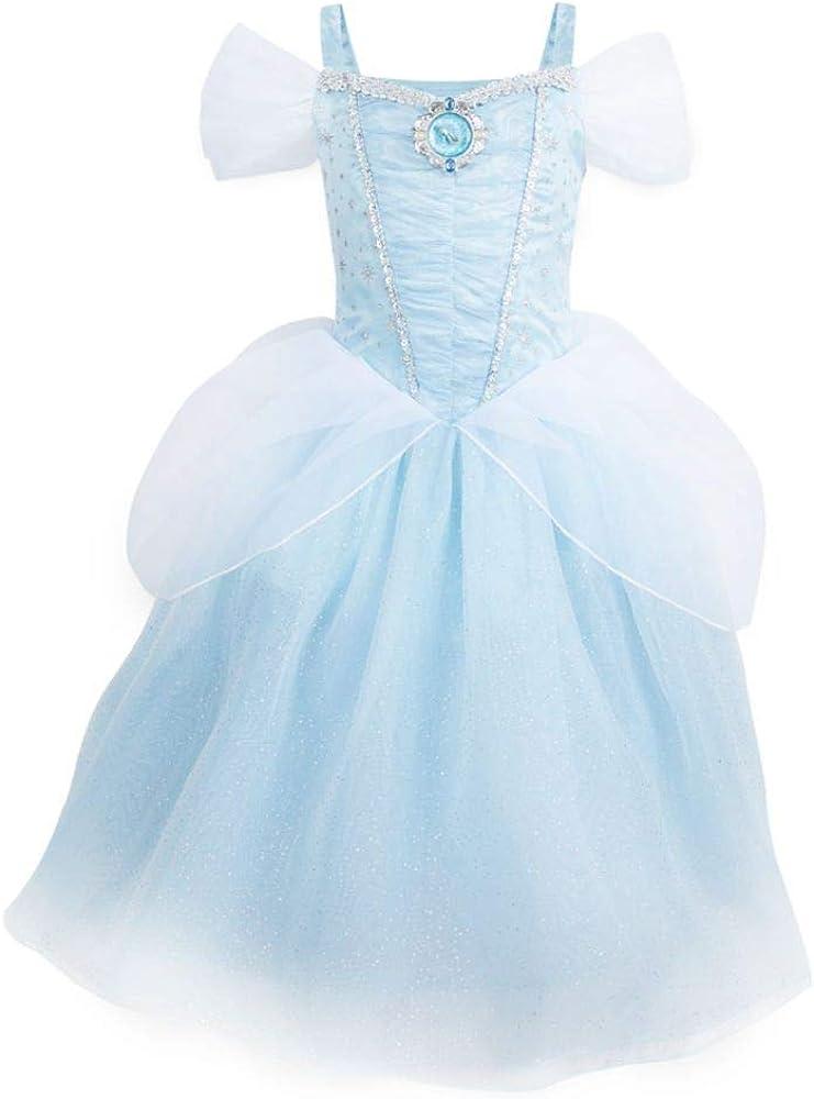 amazon com disney cinderella costume for kids size 5 6 blue clothing disney cinderella costume for kids