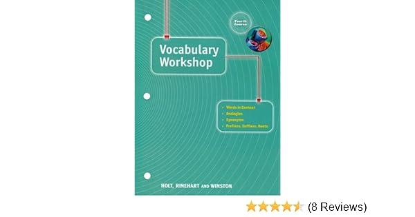 Elements Of Language Vocabulary Workshop Grade
