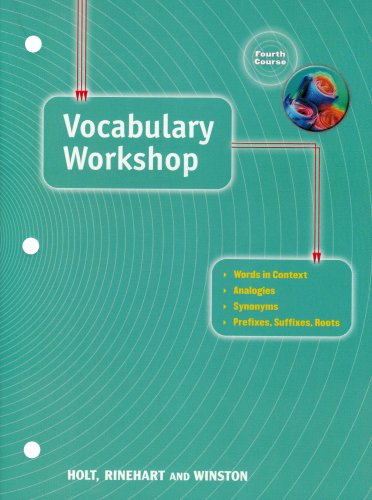 Elements of Language: Vocabulary Workshop Grade 10 Fourth Course