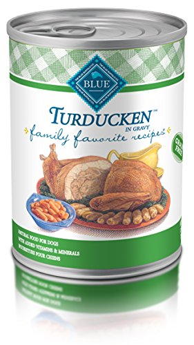 Blue Buffalo Family Favorites Natural Adult Wet Dog Food, Turducken 12.5-oz can (Pack of 12)