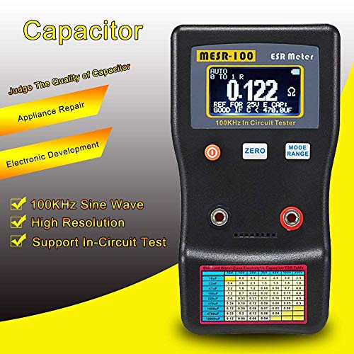 5/% Accuracy 13107 0.01 to 10000mF Range Supco MFD10 Digital Capacitor Tester with LED Display