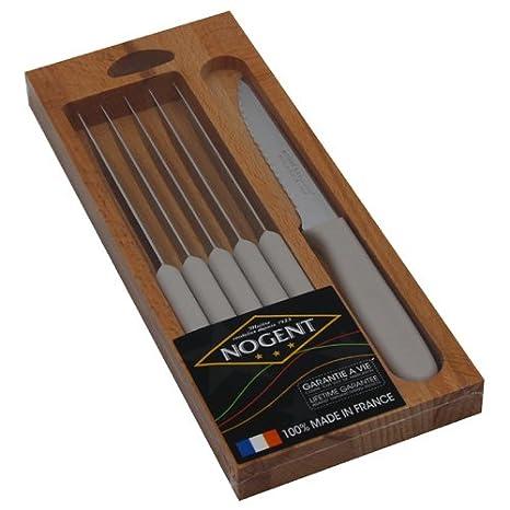 Nogent 03065R - Juego de 6 Cuchillos de Carne (Acero ...