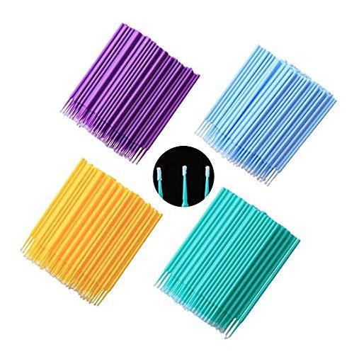 Micro Brushes,Disposable Micro Applicators Colorful Dental Swabs for Eyelash Extension,Dental,Oral,Makeup,400Pcs