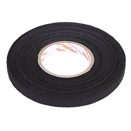 YONGYAO Car Wiring Loom Harness Adhesive Cloth Fabric Tape Cable Loom 9mm x 25M Black