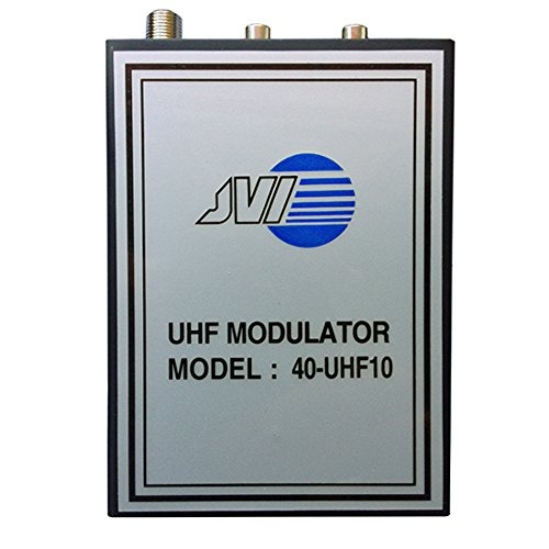 UHF-10 UHF Modulator RF Audio Video Variable Single Channel Output 14 - 32 Modulates Audio and Video Distribution Modulator Single Input JVI 40-UHF10 Audio Video Cable