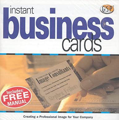 Instant business cards amazon software instant business cards reheart Images