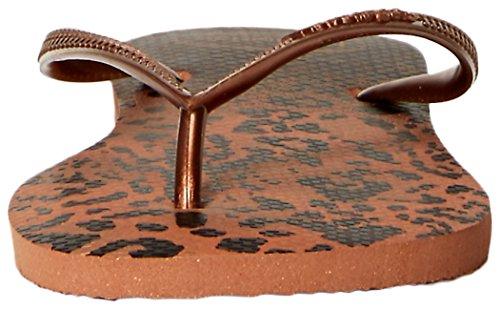 Femme Havaianas4103352 Tongs Animal à Claquettes Orange Motif Rouille EU 42 43 HAXSH7