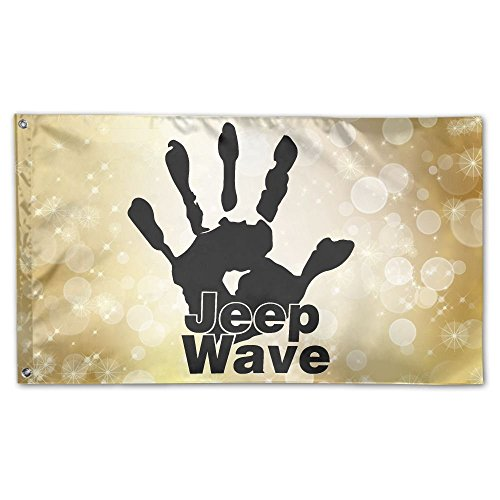 SIRLVLAY Jeep Wave Yard Flags 3 X 5 In Indoor&Outdoor Decora