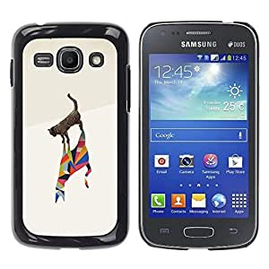 Be Good Phone Accessory // Dura Cáscara cubierta Protectora Caso Carcasa Funda de Protección para Samsung Galaxy Ace 3 GT-S7270 GT-S7275 GT-S7272 // Cat Poly Art Minimalist Metaphor