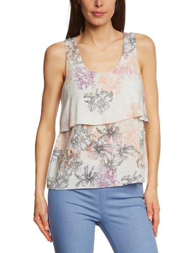 Selected - Camiseta sin mangas con cuello redondo para mujer Varios colores (Snow Flake)