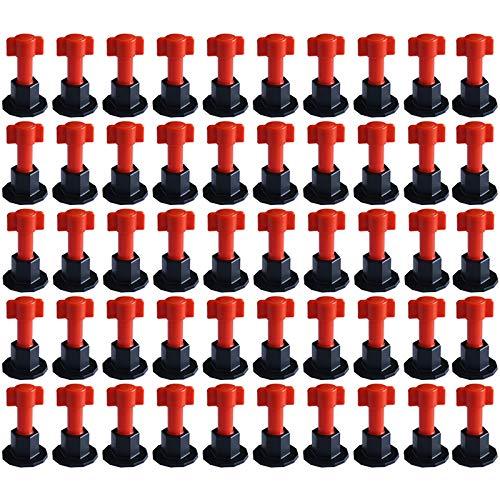 W/ände Werkzeug Montagewerkzeug f/ür Baub/öden wiederverwendbar Keramik flach Bodenwand-Konstruktion Fliesen-Nivelliersystem Keramik-Fliesenversteller Fliesen 50 St/ück Fliesenversteller