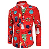 Weiyun Men Women 3D Christmas Print Long Sleeve Couples Hoodies Blouse Sweatshirts