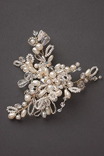 Albertine Pearl & Crystal Bridal Hair pin by Mimosa Couture