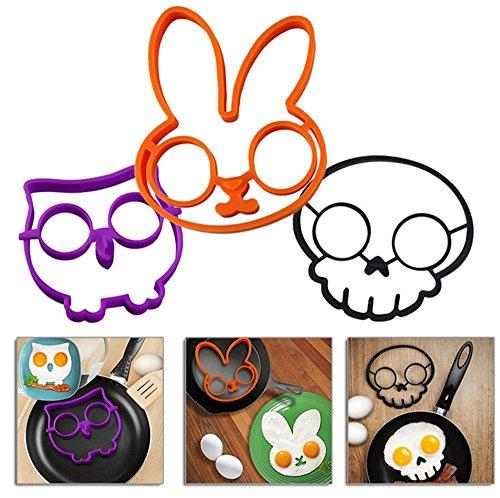 UPC 727670734461, Schoolsupplies 3Pcs Skull Bunny Owl Egg Mold Cooking Tools Scrambled Egg Kitchen Gadgets