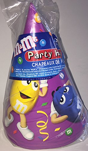 M & M Party Paper Cone Hats - 8 Count