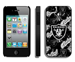 Oakland Raiders 36 Black Case Cover for iPhone 4 4S Grace and Cool Design