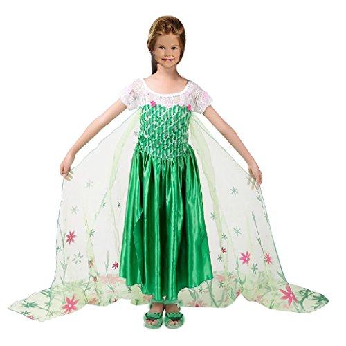 Eyekepper Princess Elsa Party Dress Costume With Flower Cape (Sixties Fancy Dress Costumes)