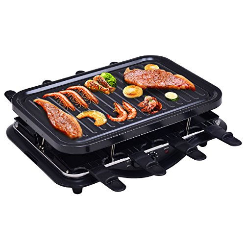 Costzon Raclette Grill, 1200W for 8