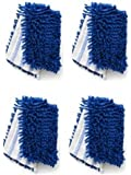 Synonymous 4 Pack Replacement OCedar Dual-Action Microfiber Mop Refill for O Cedar Flip Mop & Other 18 in Dust Mops Refill