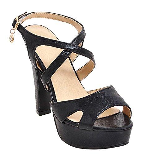 MissSaSa Sandal Donna Sandali Elegante Nero HrHq1x8