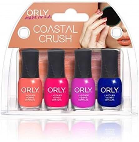 Orly Mini Kit Coastal Crush Nail Lacquer, 4 Count