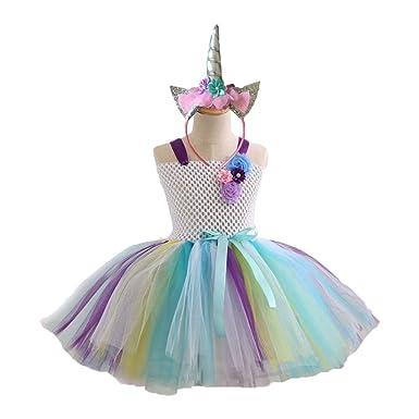 Amosfun Falda de Princesa del Traje del Vestido del tutú del ...