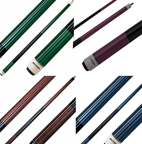 (Action Set of 4 Pool Cues Mixed Weights/Colors #3)