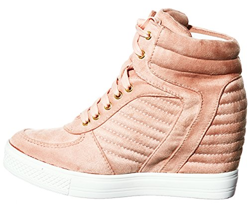 Top Fashion Lace Women's shoewhatever Wedge Sneakers Pl Blush Hi up xqvtHSfw