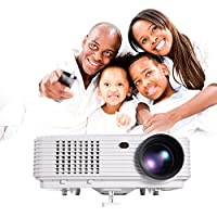MWGEARS 4500 Lumens 1280 x 800, 3000:1 4:3/16:9 3D WiFi LCD LED Projector w/ Andriod OS