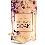 Lavender Sitz Bath Soak For Postpartum Care, Hemorrhoid Relief; Soothing, Natural Herbal Epsom Salt Reduces Discomfort in Perineum; After Birth Essentials; Large 32oz by Onesta Company