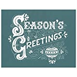 DIY Silk Screen Printing Stencil, Ready To Use Season's Greetings Winter Design, for Fabric, Wood, Ceramic, T-Shirts, and more!