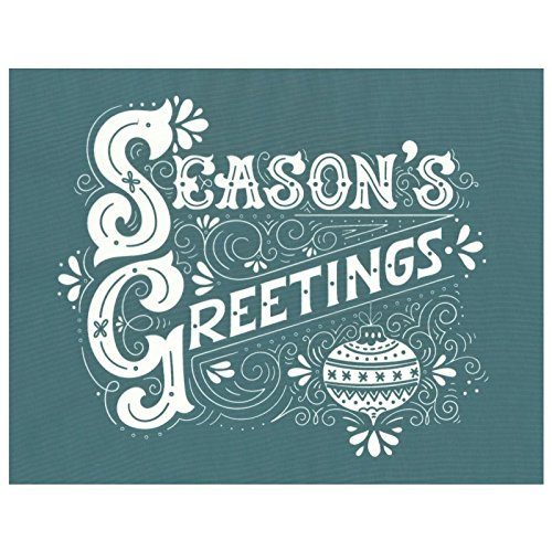DIY Silk Screen Printing Stencil, Ready To Use Season's Greetings Winter Design, for Fabric, Wood, Ceramic, T-Shirts, and more! by EZScreenPrint