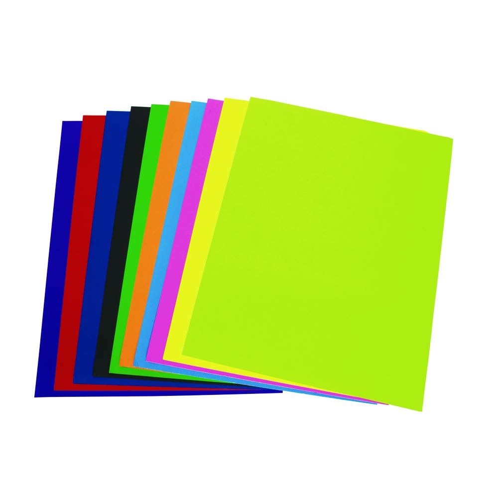 Colorations Super Heavyweight Assorted Color Poster Board, 22'' x 28'', 20 Sheets, Double Sided, Signs, Charts, Artwork, Kids Crafts, Arts and Crafts, Art Supplies, Art Paper (Item # HWC)