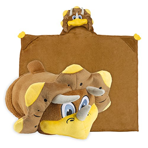 [Comfy Critters Kids Huggable Hooded Blanket - Brown] (Cute Easy Group Costumes Ideas)