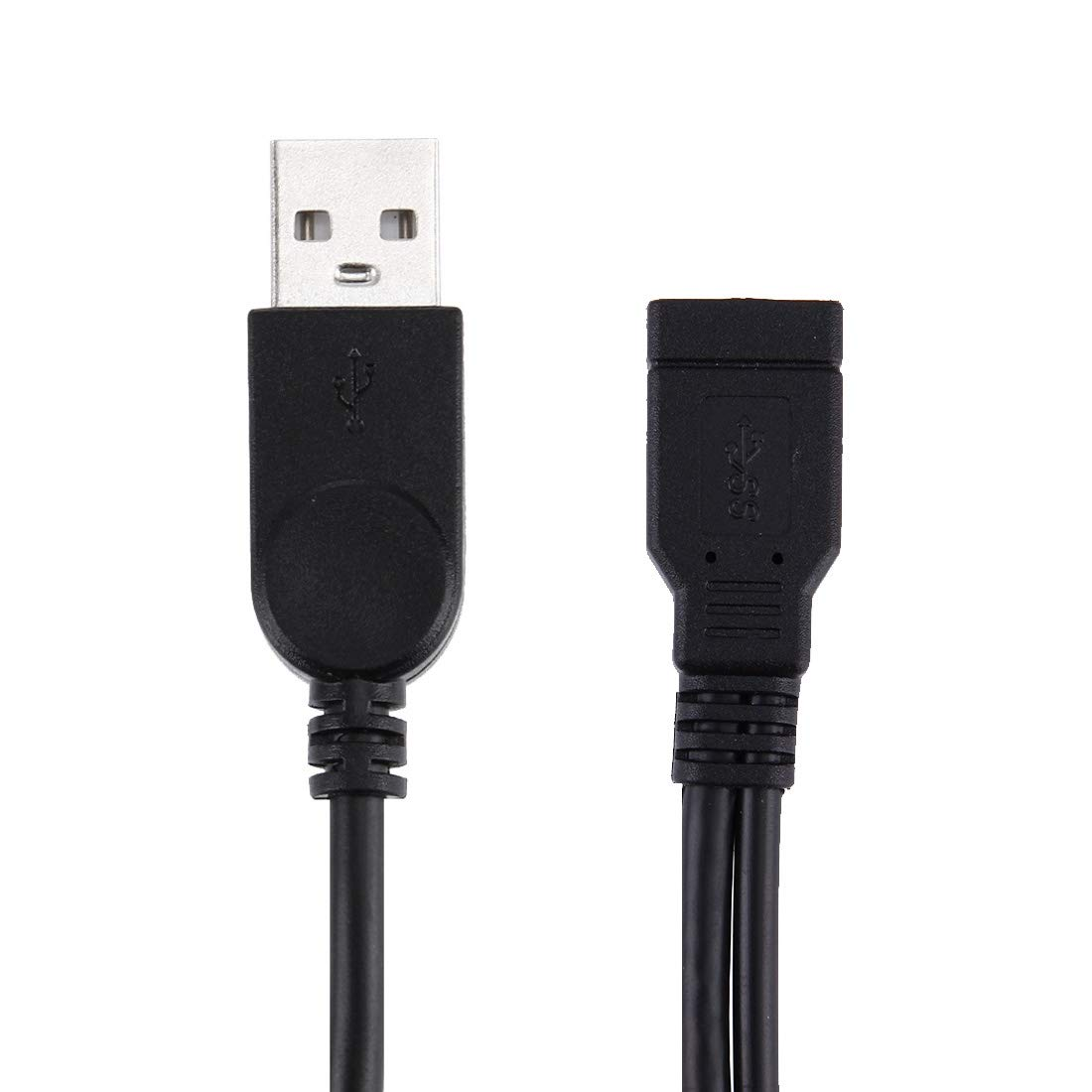 USB Cables 2 in 1 USB 3.0 Female to USB 2.0 USB 3.0 Male Cable for Computer//Laptop 29cm Cables /& Interconnects Length