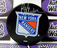 Autograph Warehouse 66324 Rick Middleton Autographed Hockey Puck New York Rangers Retro Puck