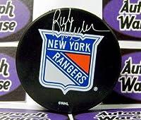 Autograph Warehouse 66324 Rick Middleton Autographed Hockey Puck New York Rangers Retro Puck