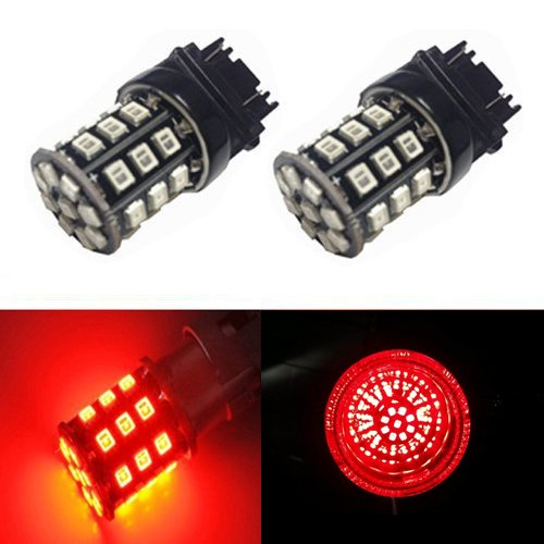 JDM ASTAR AX-2835 Chipsets 3056 3156 3057 3157 LED Bulbs For Brake Light Tail lights Turn Signal, Brilliant Red