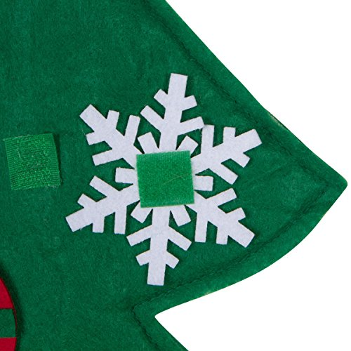 3ft Felt Christmas Tree Set with Ornaments – Wall Hanging