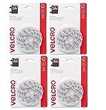 "VELCRO Brand - Sticky Back - 5/8"" Coins (300 Sets, White)"