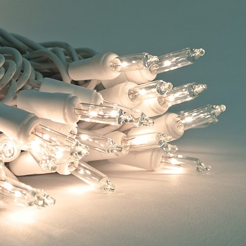 35 Clear mini lights on White Wire - Christmas mini lights - Crafts