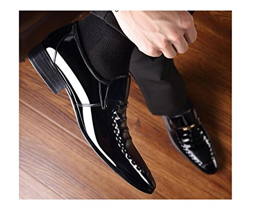 Maschi Cuoio Lavoro Casual Scarpe Affari Scarpe Inverno Oxford Scarpe di Black Stivali Autunno tw1q0