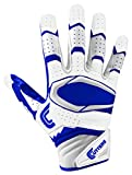 Cutters Gloves Rev Pro 2.0 Receiver Football Gloves, White/Royal, Large
