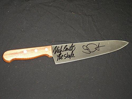 JOHN CARPENTER & NICK CASTLE Signed Steel Chef Knife Michael Myers Halloween The Shape BECKETT BAS -